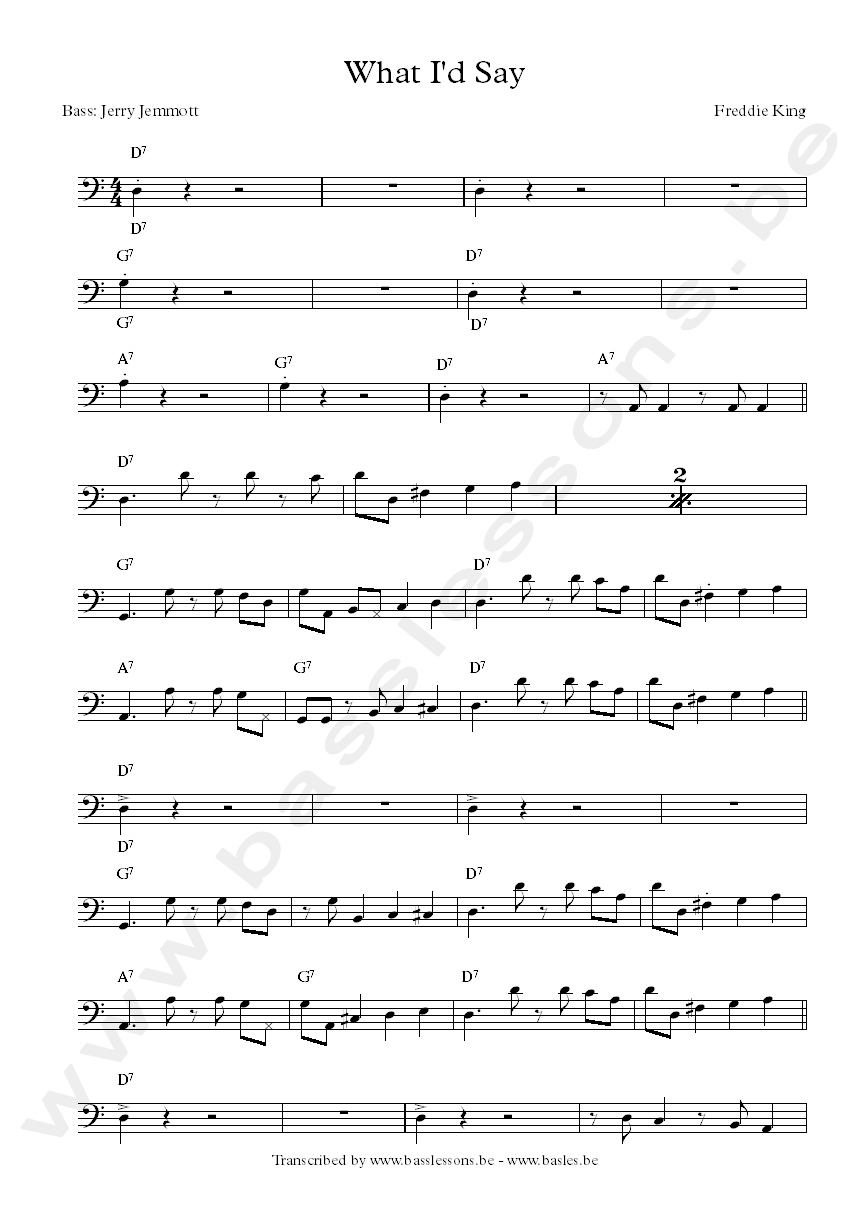 Freddie King transcription