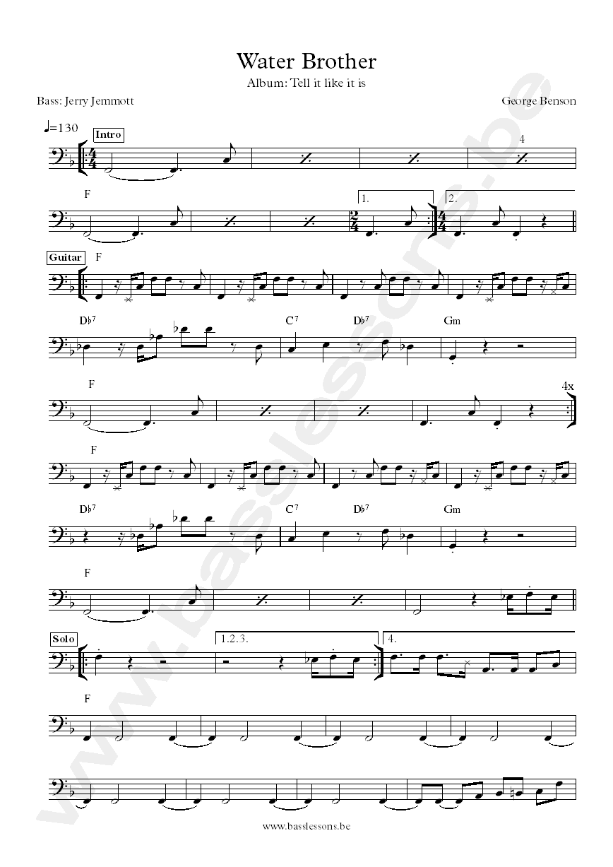 George Benson transcription