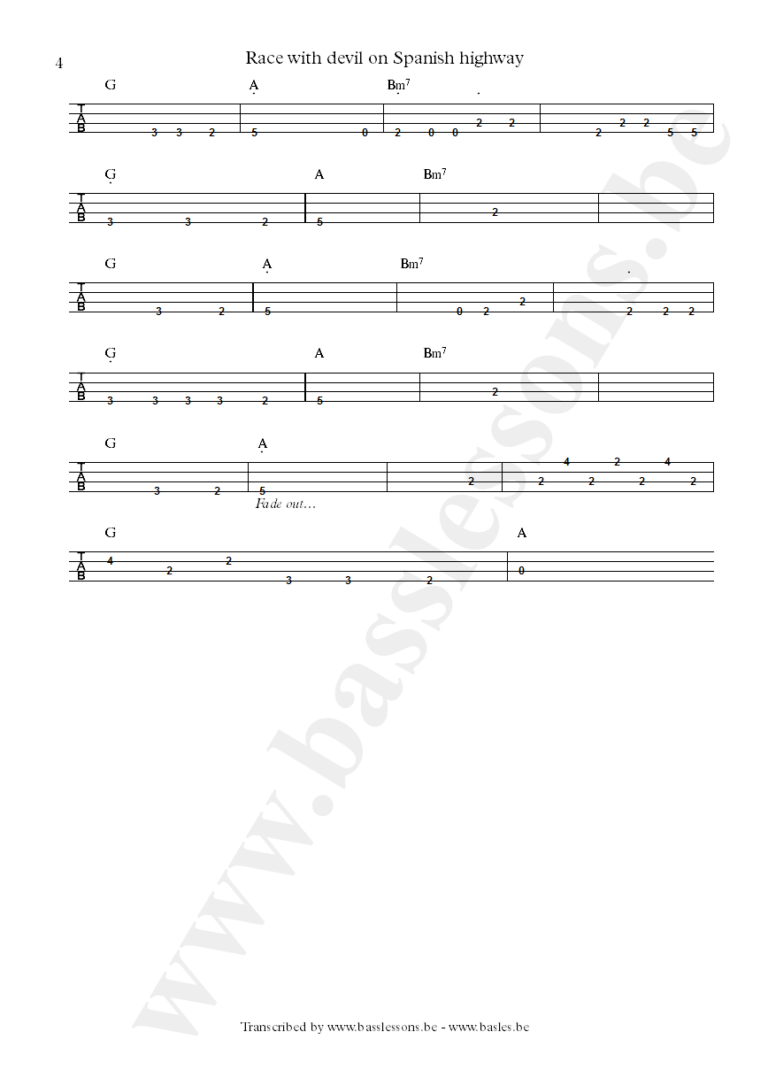al di meola anthony jackson bass tab part t4