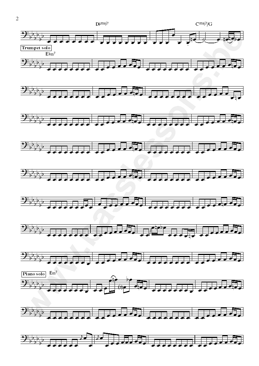 Lafayette Gilchrist Assume the position bass transcription part 2