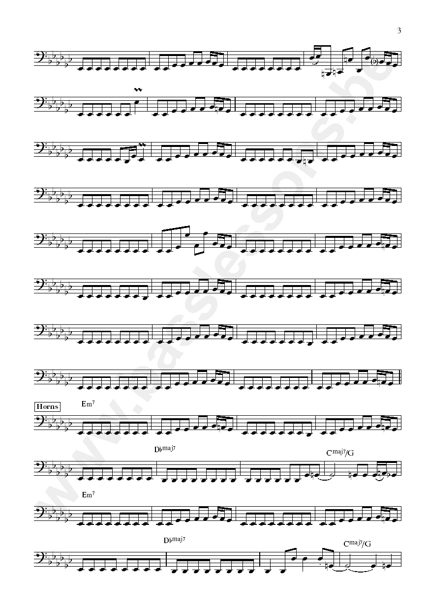 Lafayette Gilchrist Assume the position bass transcription part 3