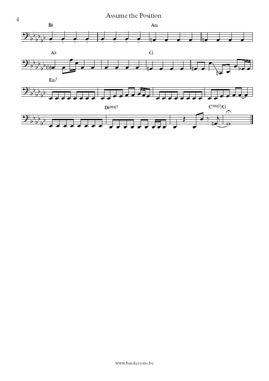 Lafayette Gilchrist Assume the position bass transcription part 4