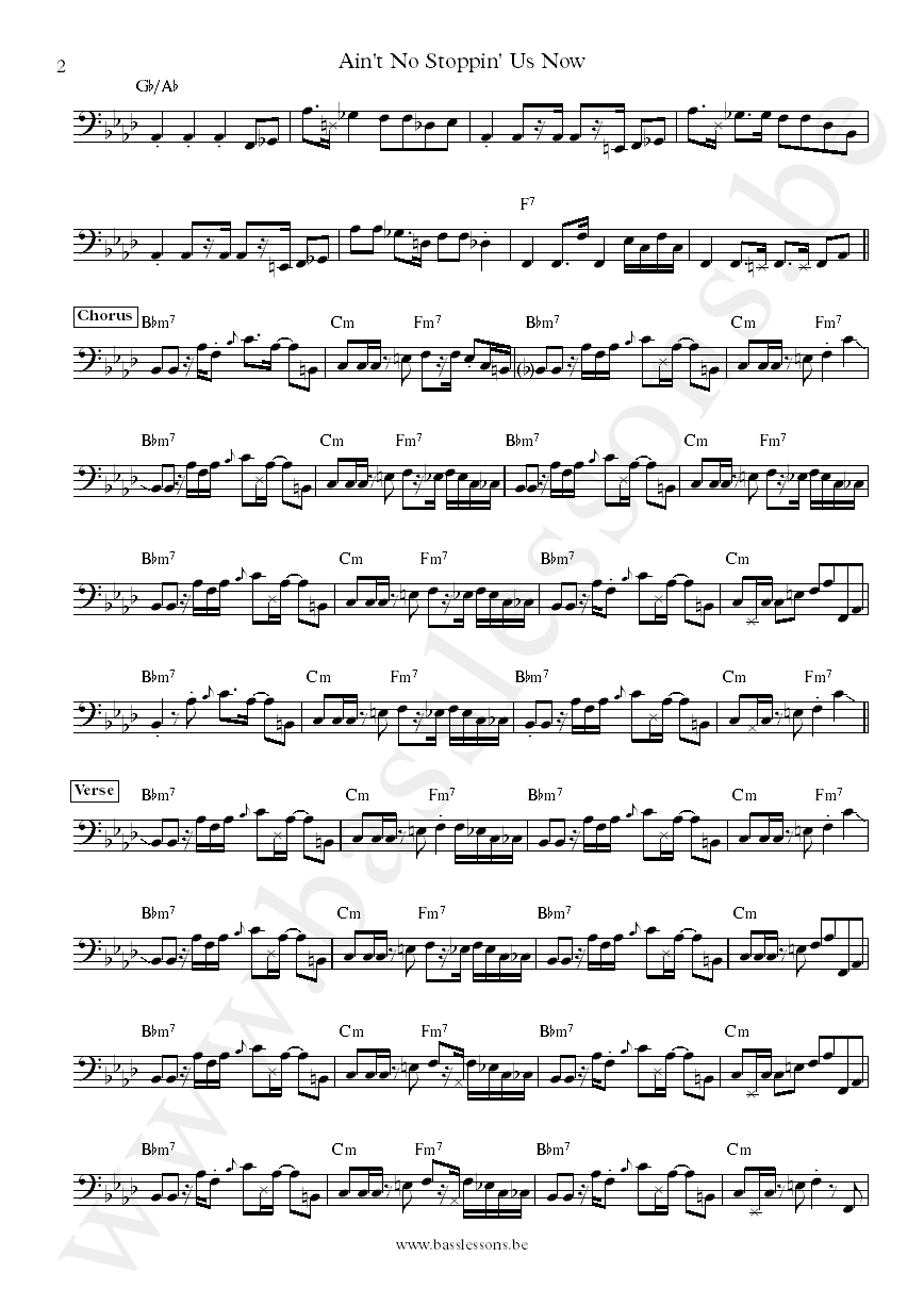 McFadden & Whitehead Ain't No Stoppin Us Now James Williams bass transcription part 2