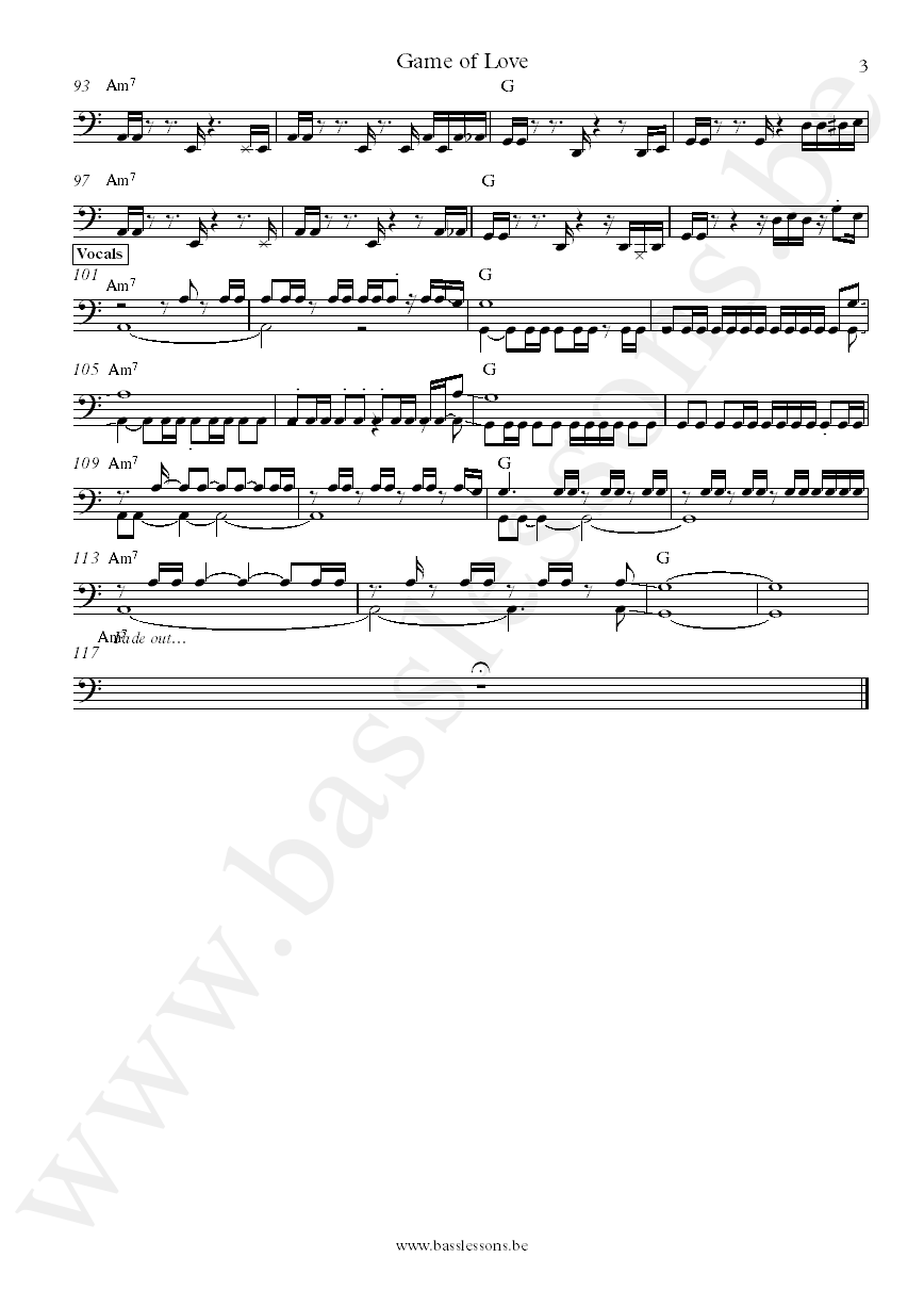 Daft Punk The Game Of Love Nathan East bass transcription part 3