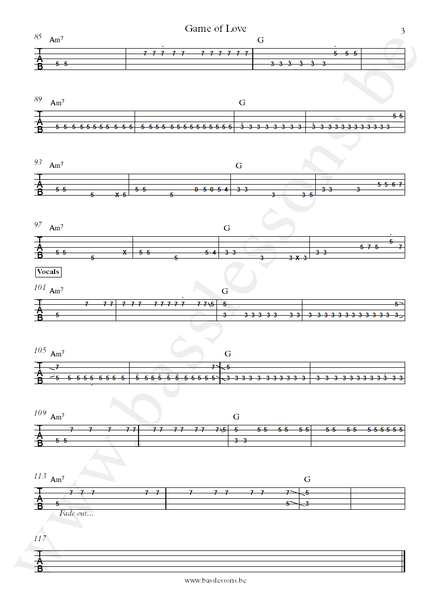 Daft Punk The Game Of Love Nathan East bass tab part 3