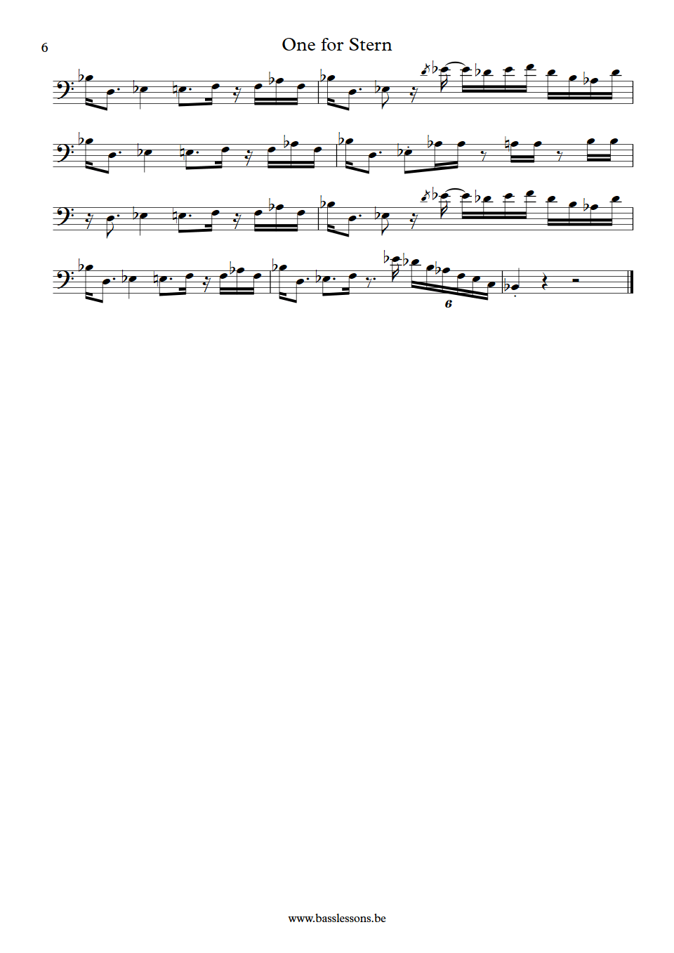 CAB - One for Stern - Bunny Brunel Bass Transcription